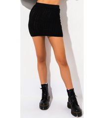 akira and chill cable knit mini skirt