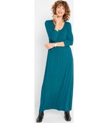maxi jurk in a-lijn, 3/4-mouw