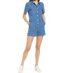 women's madewell women's indigo ripstop coverall romper, size medium - blue