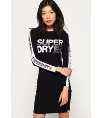 superdry bodycon graphic mini dress