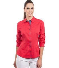 camisa love poetry estampada vermelha