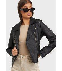 river island pu biker jacket skinnjackor