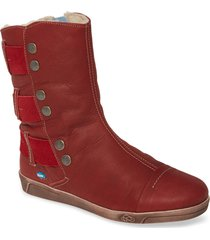 women's cloud amber wool lined bootie, size 5us - red