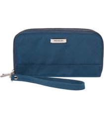 travelon rfid blocking double zip wallet