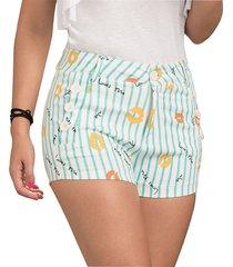 envío gratis pantalon corto donella menta azul para mujer croydon
