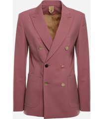 max mara double-breasted blazer in wool and mohair