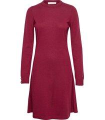 astrid dress knälång klänning röd busnel