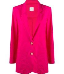 alysi straight-fit jacket - pink
