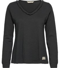 leonore top t-shirts & tops long-sleeved zwart odd molly