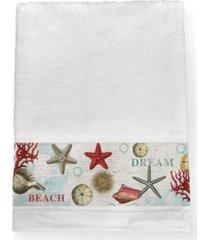 laural home dream beach shells bath towel bedding