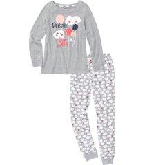 pigiama in cotone biologico (grigio) - bpc bonprix collection