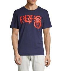 prps men's graphic logo stretch tee - navy - size xl