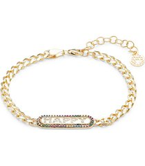 goldplated sterling silver & crystal bracelet