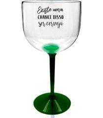 6 taã§as gin transparente com base verde personalizada para live - transparente - dafiti