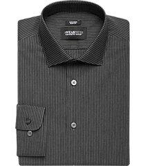 awearness kenneth cole black stripe slim fit dress shirt