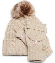 calvin klein 2-pc. beanie & flip-top gloves set