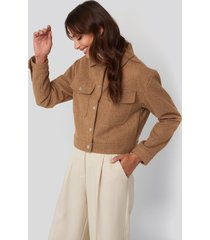 na-kd front pocket jacket - beige
