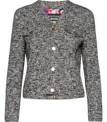 blumen jacket blazers bouclé blazers zwart boutique moschino