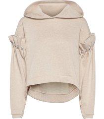 eliza hoodie hoodie trui beige mother of pearl