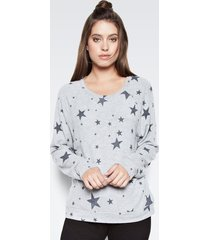 percy classic pullover - l heather grey star