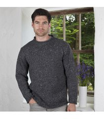 donegal curl neck sweater charcoal large