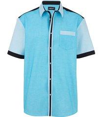 overhemd men plus turquoise
