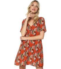 vestido naranja-multicolor glamorous