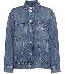 iconic over d trucker jeansjack denimjack blauw calvin klein jeans