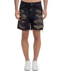bermuda shorts pantaloncini uomo shredded