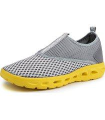 scarpe sportive da uomo casual in mesh traspirante con acqua traspirante