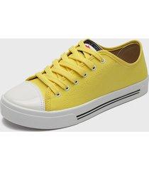 zapatilla amarillo moleca
