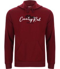buzo hombre country red color vino, talla s