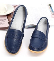loafers bassi morbidi slip on in pelle respirabile a grande taglia