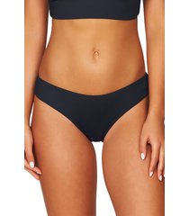 women's sea level bikini bottoms, size 14 us - blue