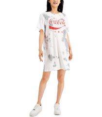 hybrid juniors' coca-cola-graphic t-shirt dress