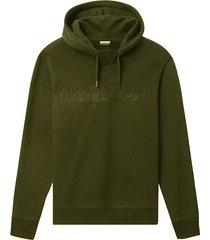 napapijri sweatshirt met capuchon groen