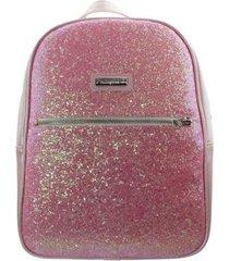 mochila infantil pampili glitter menina
