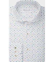 michaelis poplin shirt met vrolijk gekleurde bolletjes