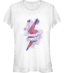 fifth sun harry potter lightning bolt love leaves its mark women's short sleeve t-shirt