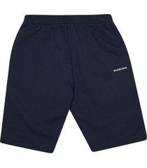 balenciaga side logo shorts