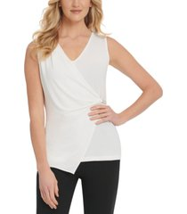 dkny sleeveless wrap top