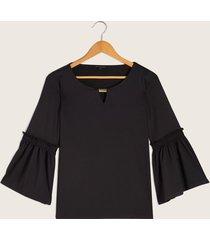 camiseta negra negro xs