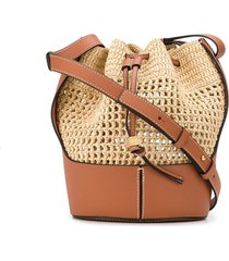 loewe balloon drawstring-fastening bucket bag - brown