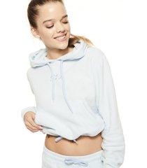 bluza frotte crop hoodie
