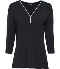 maglia con cerniera (nero) - bodyflirt