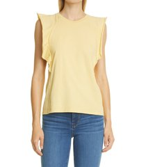 frame summer t-shirt, size x-small in cornsilk at nordstrom