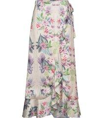 cindy skirt knälång kjol multi/mönstrad by malina
