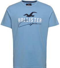 hco. guys graphics t-shirts short-sleeved blå hollister