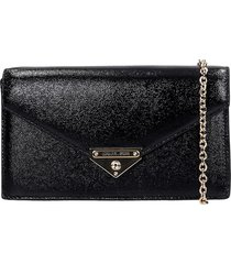 michael kors clutch in black leather