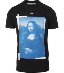 black man t-shirt with monalisa graphic print
